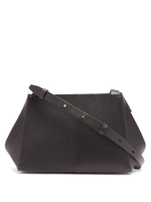 Aesther Ekme - Origami Leather Shoulder Bag - Womens - Black
