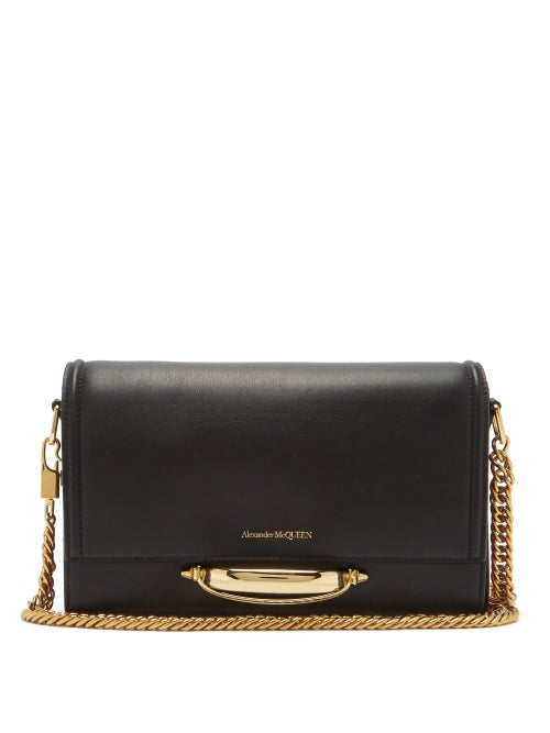 Alexander Mcqueen - The Story Leather Shoulder Bag - Womens - Black Multi