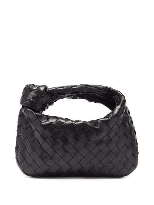 Bottega Veneta - Bv Jodie Mini Intrecciato Leather Shoulder Bag - Womens - Black