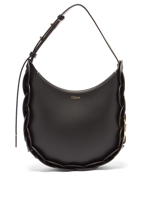 Chloé - Darryl Small Grained-leather Shoulder Bag - Womens - Black