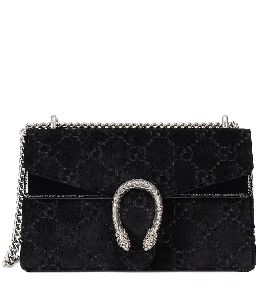 Dionysus GG Small velvet shoulder bag