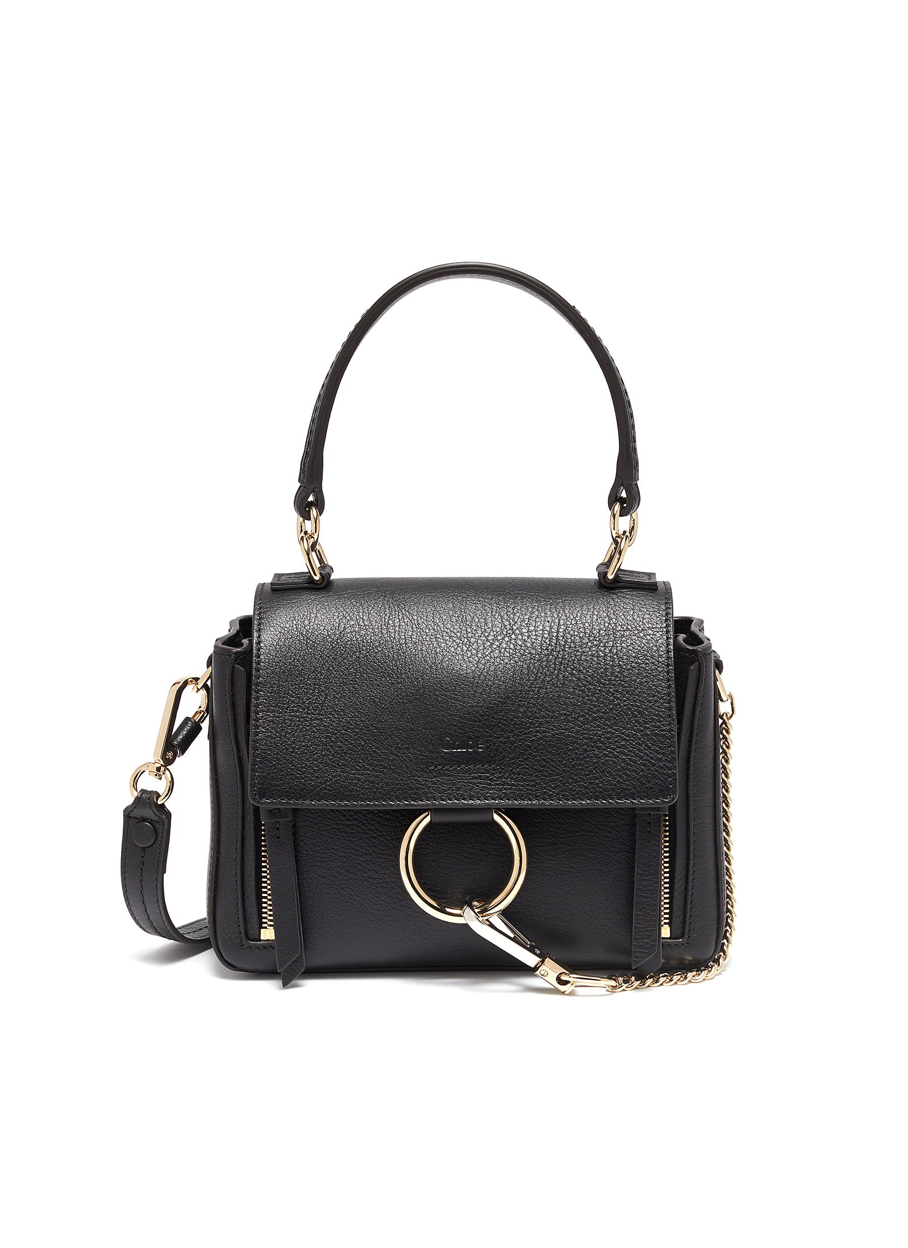 'Faye Day' mini leather shoulder bag