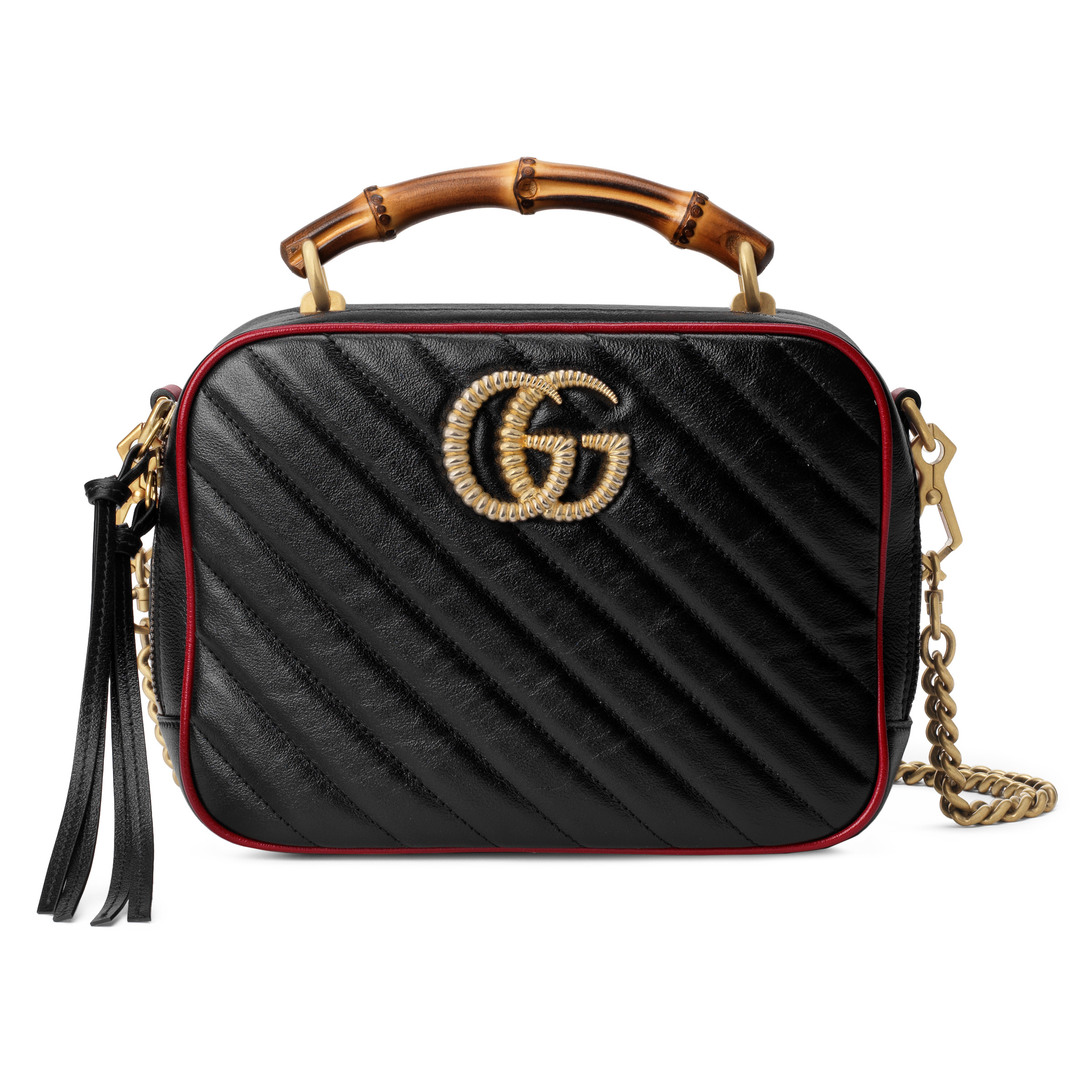 GG Marmont small shoulder bag with bamboo