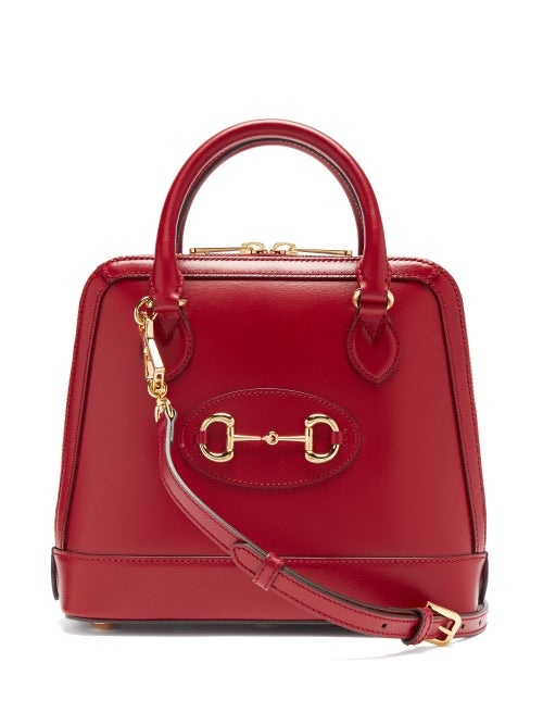 Gucci - 1955 Horsebit Small Leather Shoulder Bag - Womens - Red