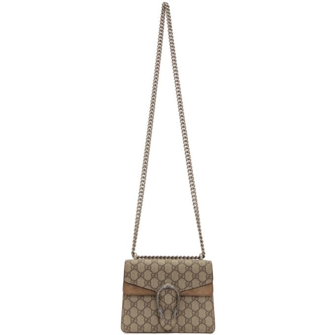 Gucci Beige Mini GG Dionysus Shoulder Bag