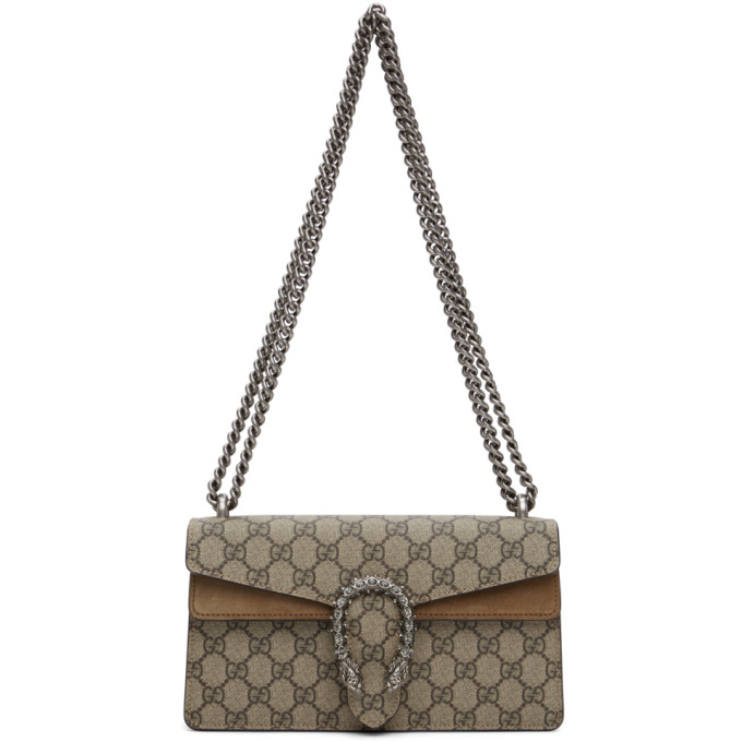 Gucci Beige Small GG Dionysus Shoulder Bag
