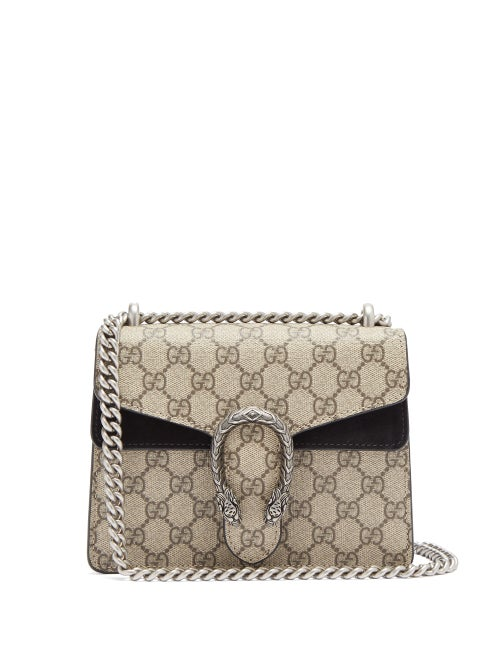 Gucci - Dionysus Mini Gg Supreme-canvas Shoulder Bag - Womens - Grey Multi