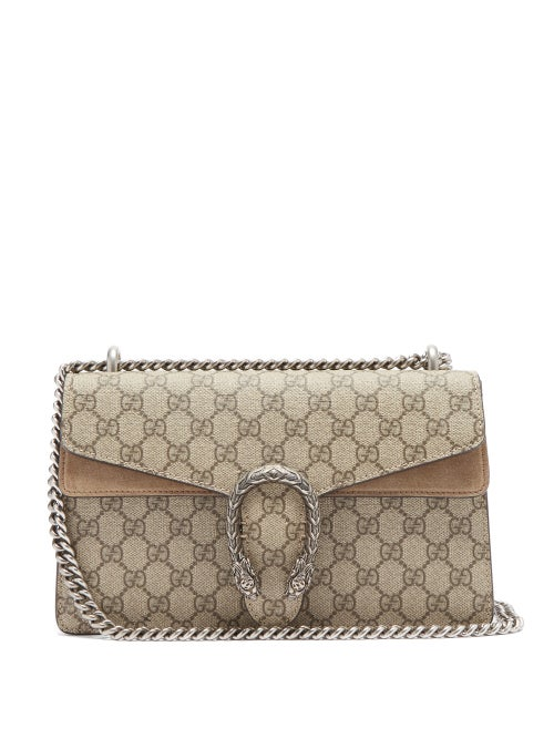 Gucci - Dionysus Small Gg Supreme-canvas Shoulder Bag - Womens - Grey Multi