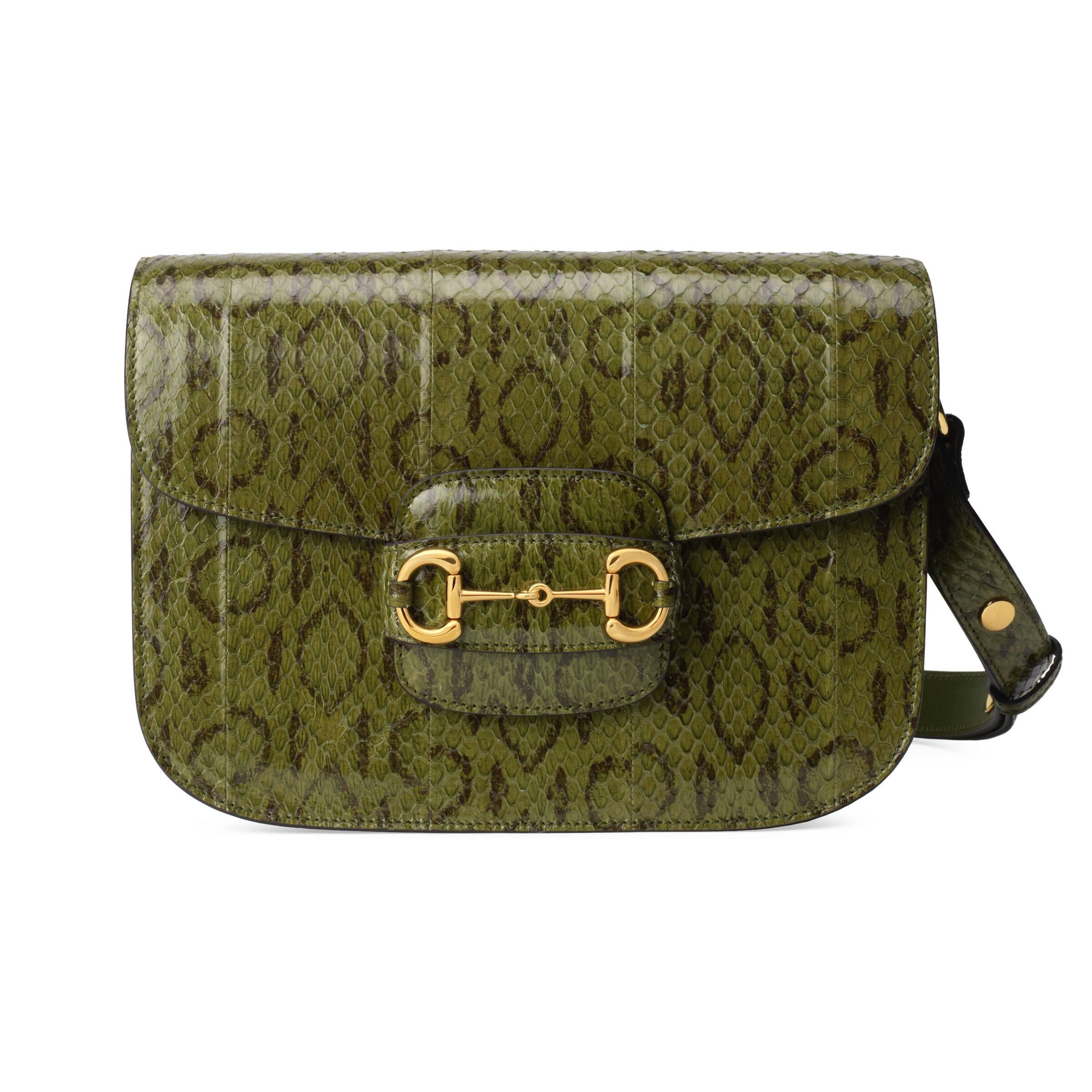 Gucci Horsebit 1955 snakeskin shoulder bag