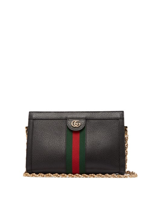 Gucci - Ophidia Web-stripe Leather Shoulder Bag - Womens - Black