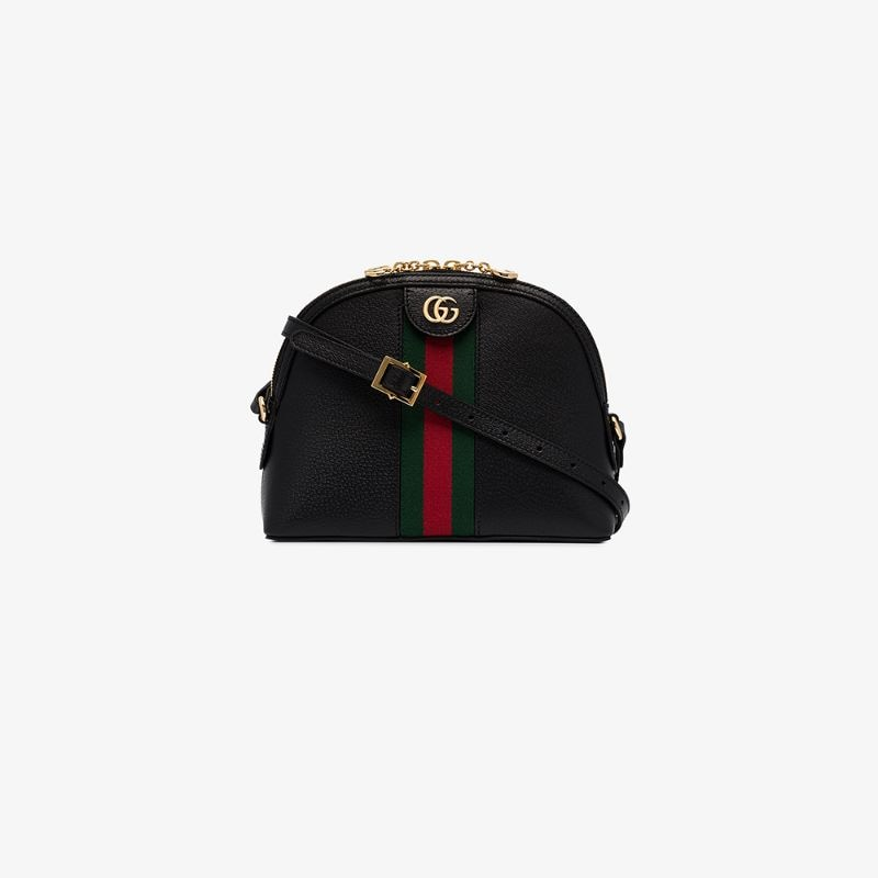 Gucci Womens Black Ophidia Small Shoulder Bag