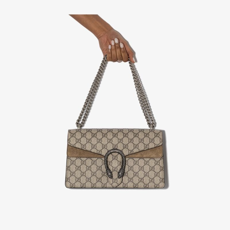 Gucci Womens Brown Dionysus Gg Supreme Shoulder Bag