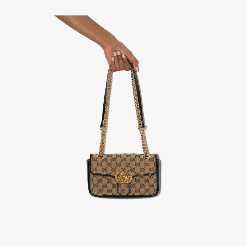 Gucci Womens Neutrals Mini Marmont Gg Supreme Shoulder Bag