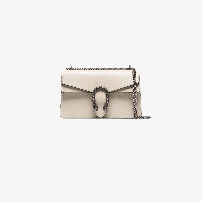 Gucci Womens Neutrals White Dionysus Small Leather Shoulder Bag