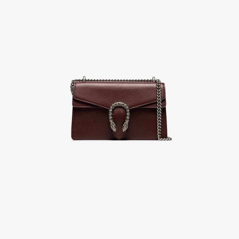 Gucci Womens Red Dionysus Chain Strap Shoulder Bag