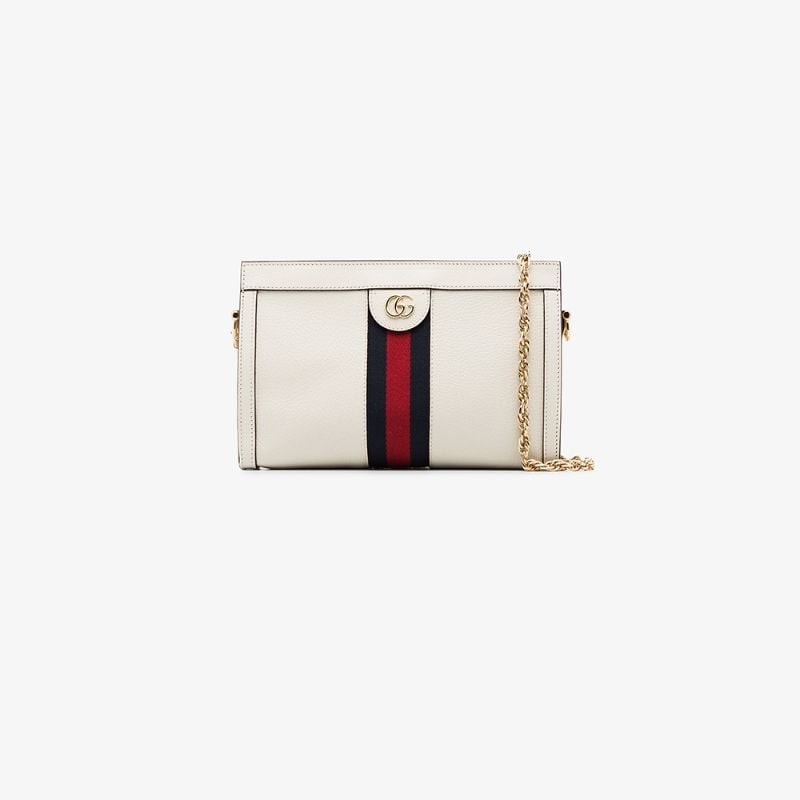 Gucci Womens White Small Ophidia Shoulder Bag