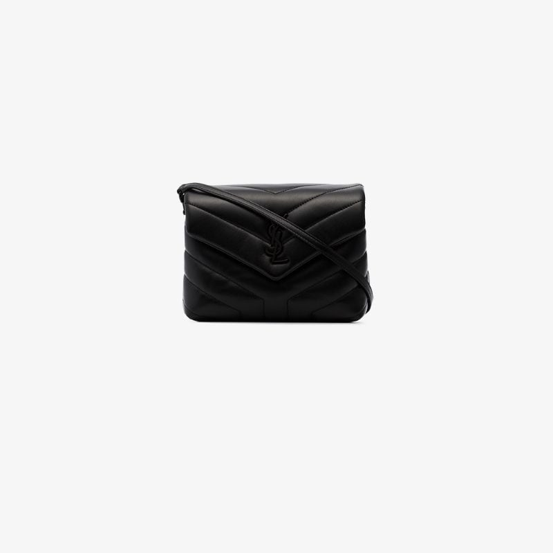 Saint Laurent Womens 101 - Black Toy Loulou Quilted Shoulder Bag