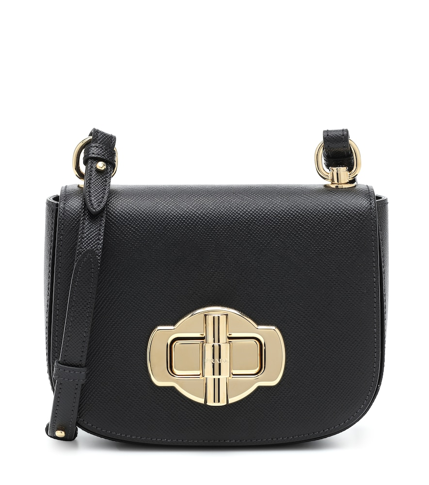 Small saffiano leather shoulder bag