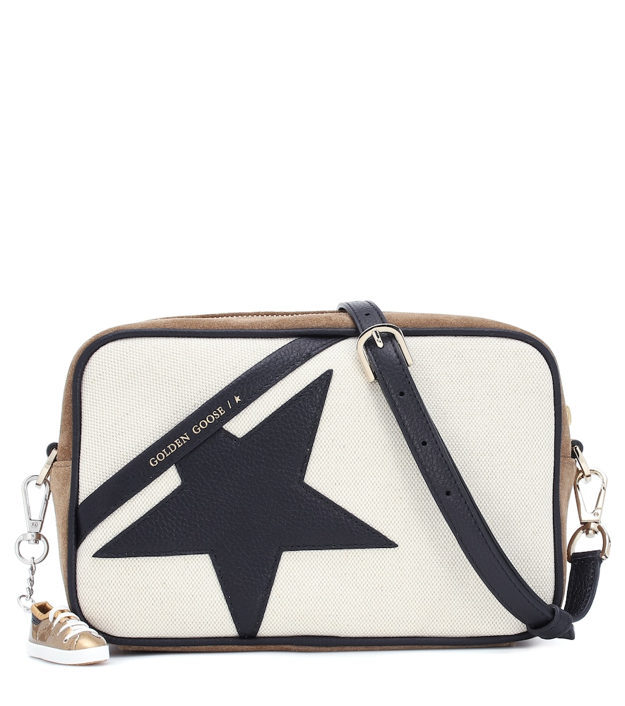 Star canvas shoulder bag