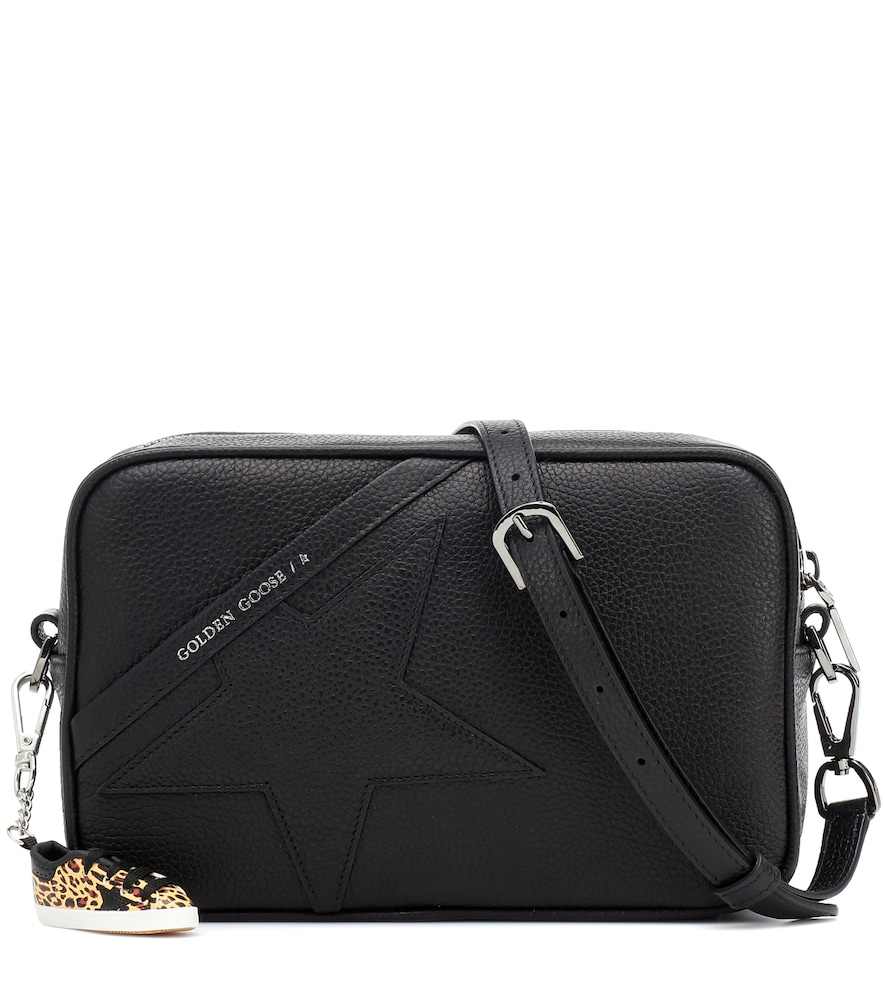Star leather shoulder bag
