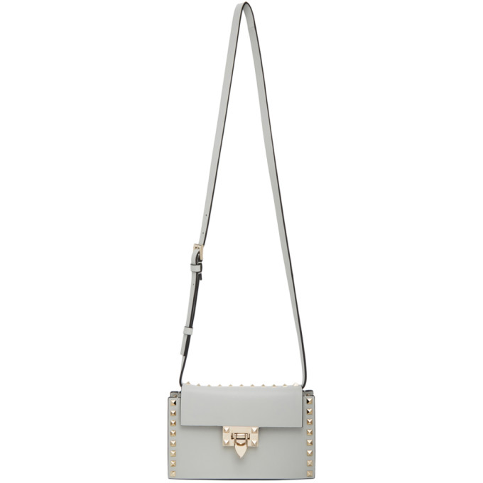 Valentino Grey Valentino Garavani Mini Rockstud Shoulder Bag