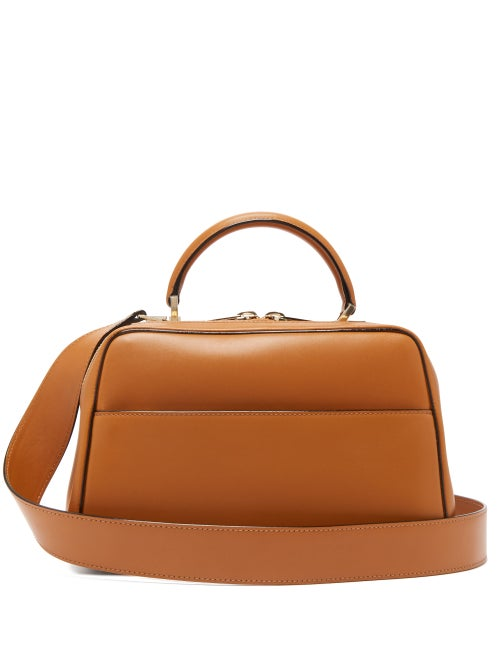 Valextra - Serie S Medium Smooth-leather Shoulder Bag - Womens - Tan