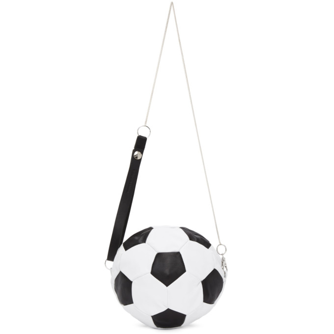 Bless SSENSE Exclusive Black and White Soccer Ball Shoulder Bag