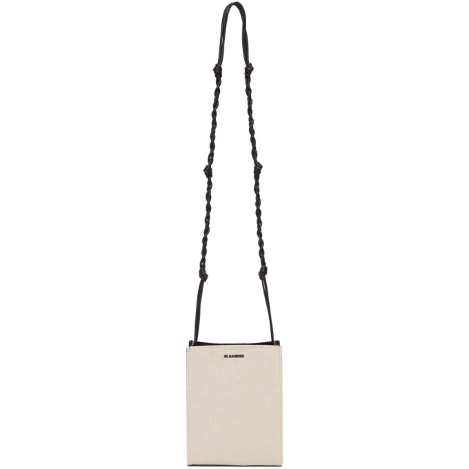 Jil Sander Off-White Canvas Small Tangle Shoulder Bag