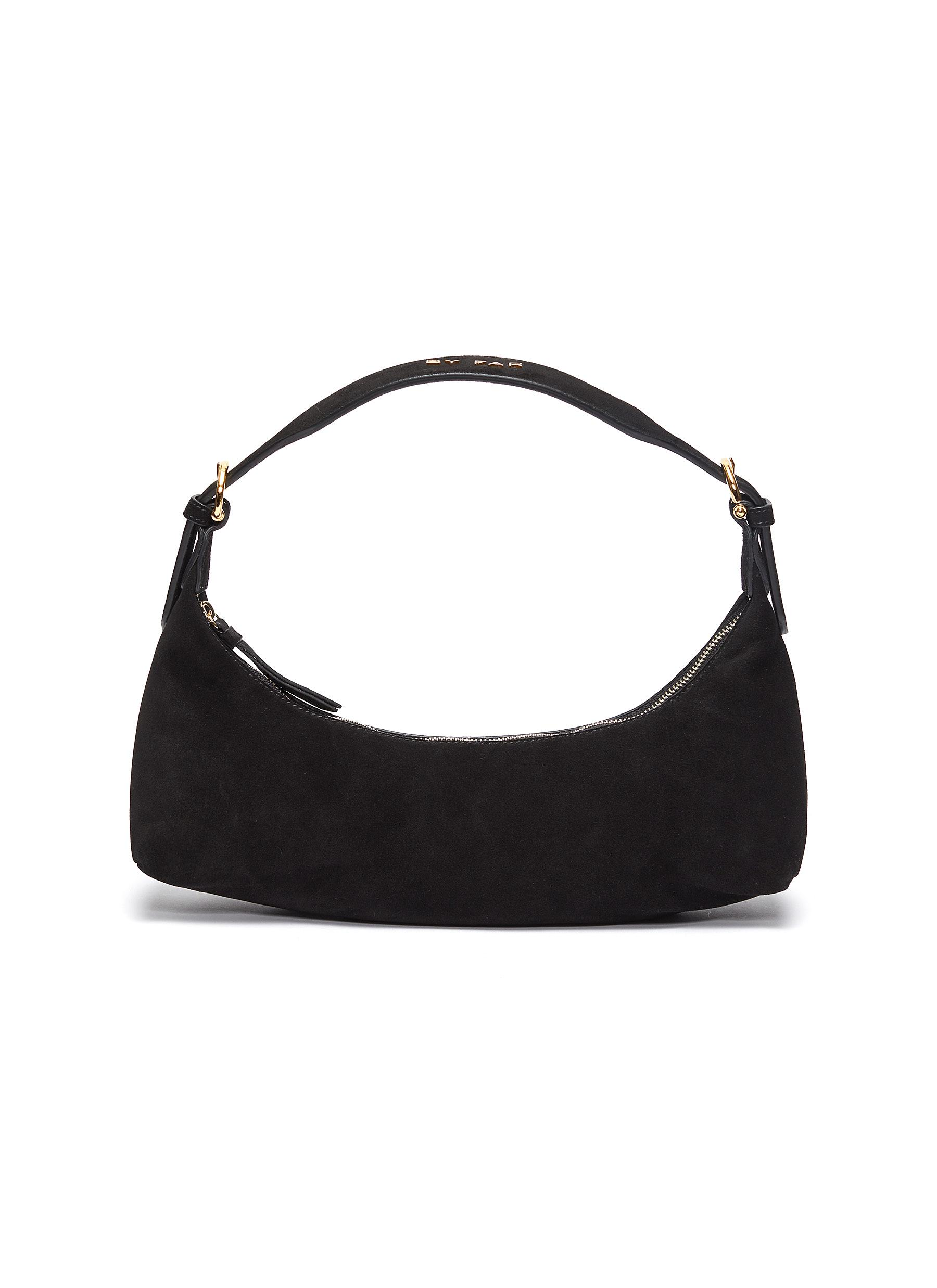 'Mara' suede leather baguette shoulder bag