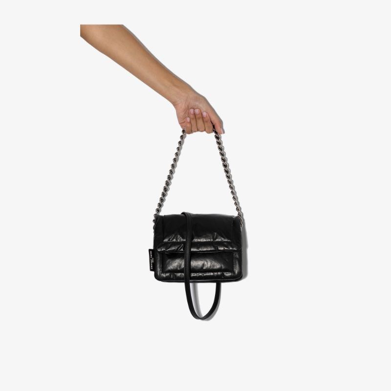 Marc Jacobs Womens Black Mini Pillow Leather Shoulder Bag